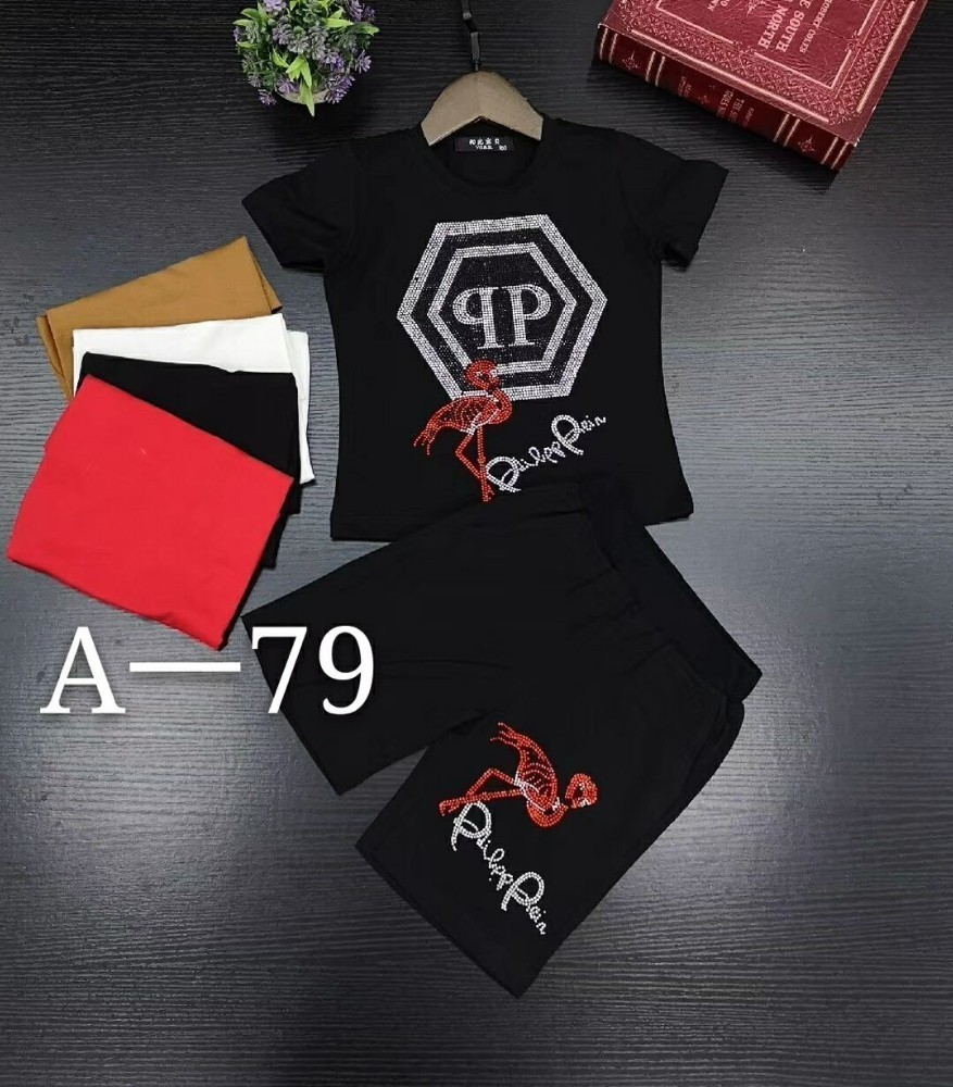 Pp 2019 new children's short-sleeved suit, children's upper body, handsome and cute, cotton fabric, flamingo letters