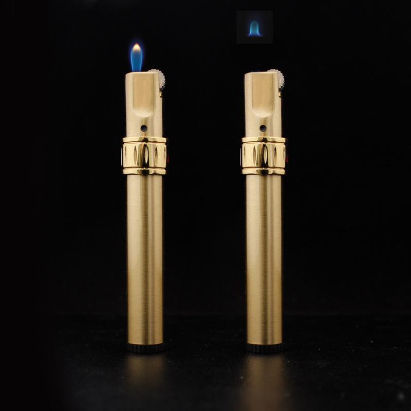 Jobon Creative Butane Lighter Floating Flame Grinding Wheel Adjustable Lighters Gift for Friend