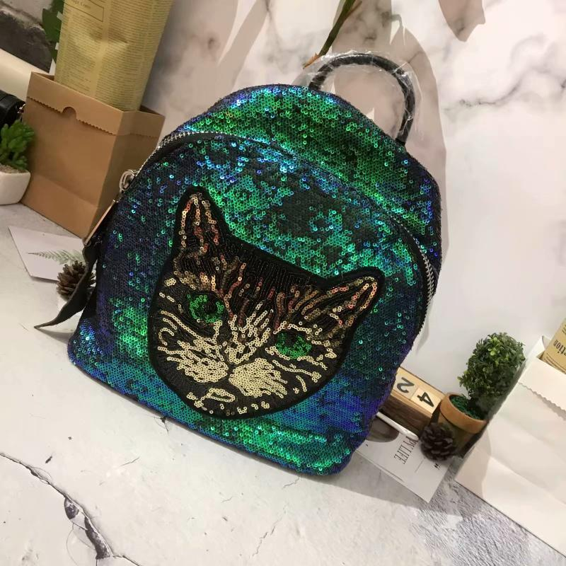 Decent2019 Be Backpack Chattering Network Red Fund Head Layer Cowhide With Beads Piece Cathead Both Shoulders Tourism Package