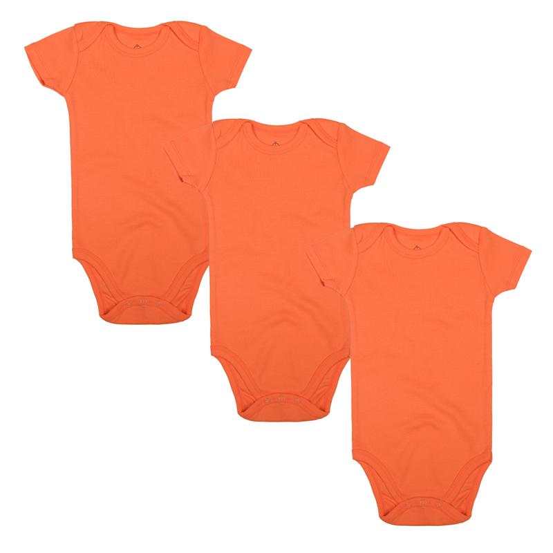 orange baby bodysuit short sleeve