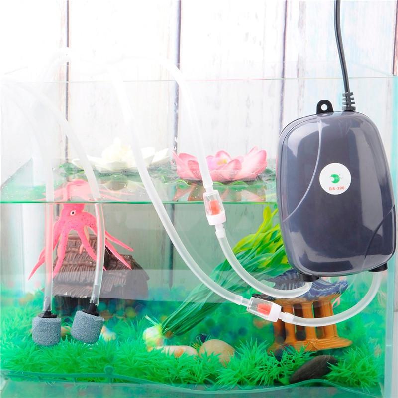 Aquarium Air Pump Mini USB Oxygen Pump Air Compressor Single Double Outlet Water Inflation Pump Aquatic Terrarium Fish Tank Accessories 0