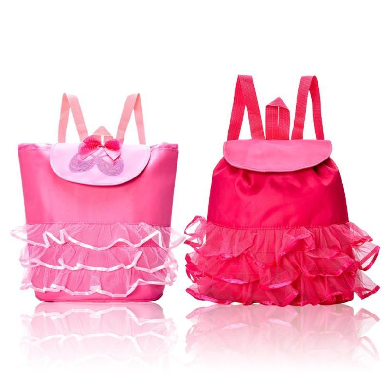 Kids Girl Student Bag Flower Ballet Backpack Dancing Shoulder Outdoor Bag Lovely