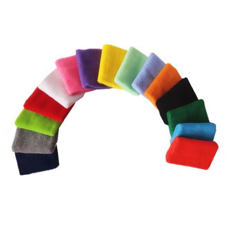 terry cloth cotton stripe headband basketball badminton squash football sports