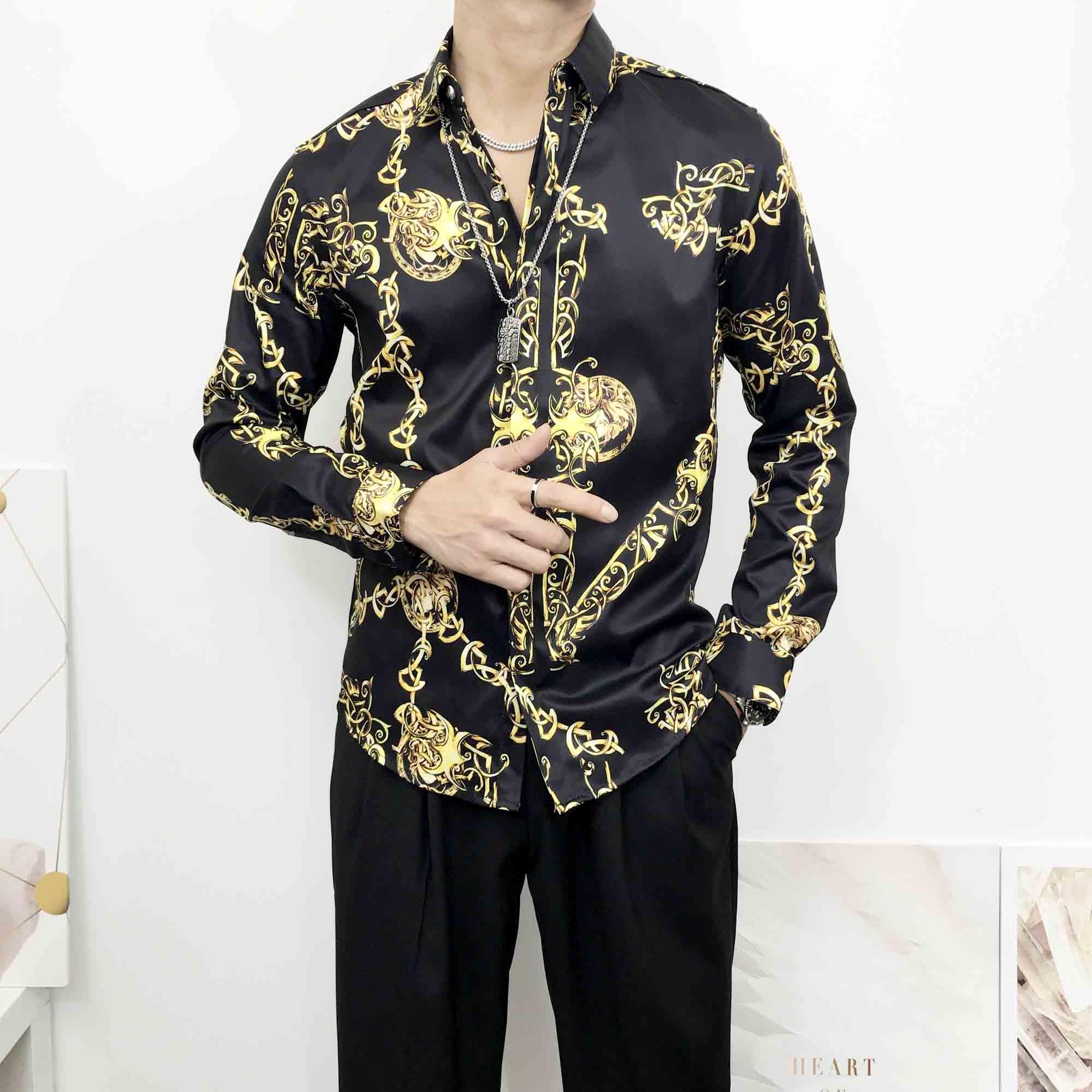 Men/'s Silk Casual Vest Golden Tiger Design