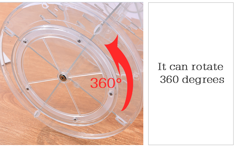 Makeup Organizer 360 Rotating Adjustable Storage Box Plastic Clear AcrylicTransparent Box Jewelry Necklace Nail Polish Cosmetic (9)