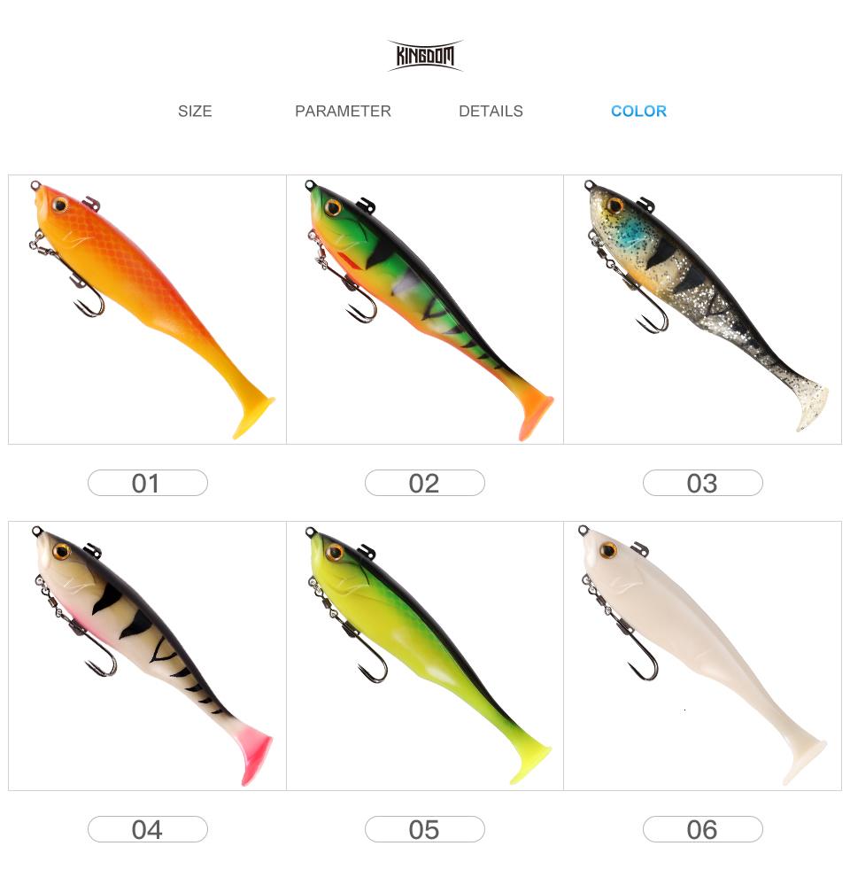Kingdom Hot TSUNAMI Soft Baits Swim Shad Double Hook Fishing Lures 170mm 55g Good Action Saltwater Swimbaits Fishing Soft Lure (12)