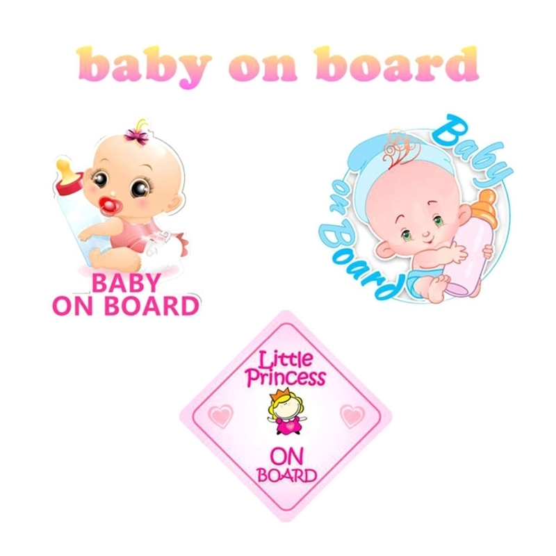 Little Princess BABY ON BOARD Car Sticker Colored Window Warning Sign Decoration