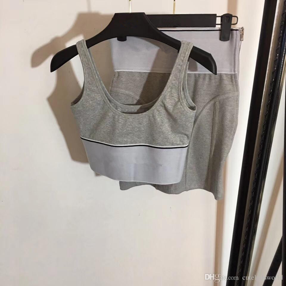 Laufanzug Fest Yoga Set Patchwork-Frauen-Fitness Jogging Tank Top Rock Sport Anzug Gym Sport Workout