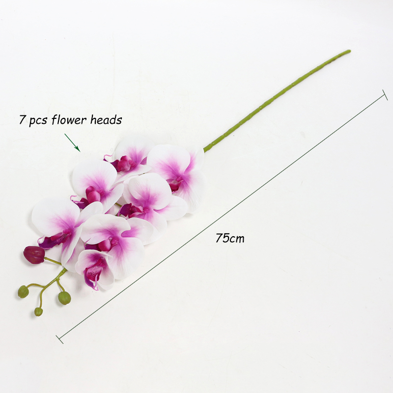 Artificial Orchid Flower 4 color Real Touch Artificial Butterfly Orchid flores artificial Wedding decoration home Festival Decor (26)