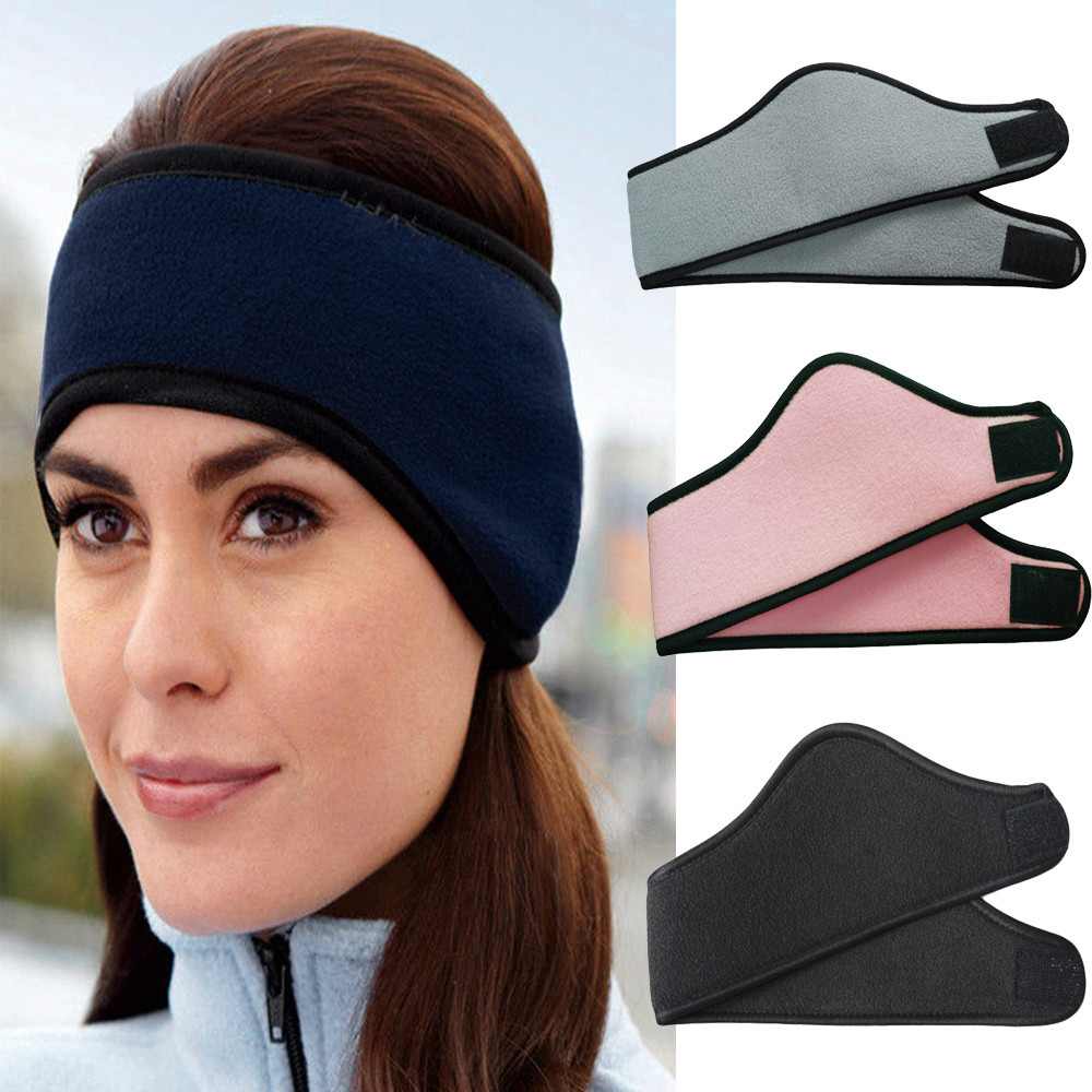 Stilvolle Winter Männer Frauen Fleece Earband Stretchy Stirnband Ohrenschützer