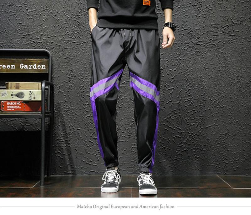 Loose Hip Hop Cargo Pants Men Camouflage Patchwork Harem Mens Trousers Streetwear (14)