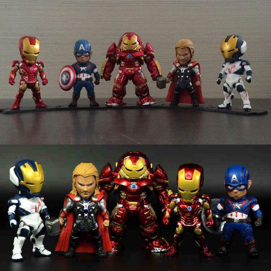 8 Pcs//Set Avengers Age of Ultron Thor Hulk Iron Man Hawkeye PVC Figure Model Toy