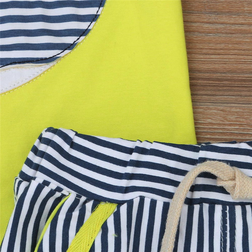 2PCS Baby Sets Newborn Baby Boys Girls Sleeveless Cartoon Whale Print Top+Striped Shorts Sets Clothes Suit For 6-24M M8Y07 (2)