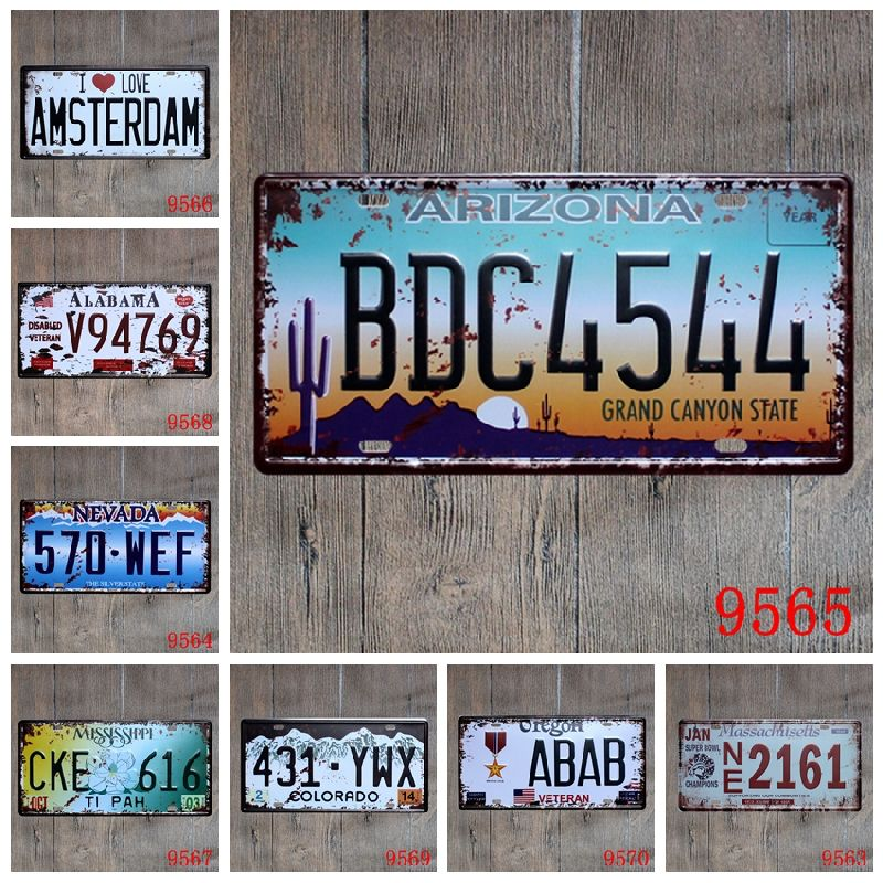 2019 Champion Nevada Amsterdam Vintage Nostalgia Metal Tin Sign Souvenir License Plates Retro Iron Painting Wall Sticker Number Plate Metal Craft From