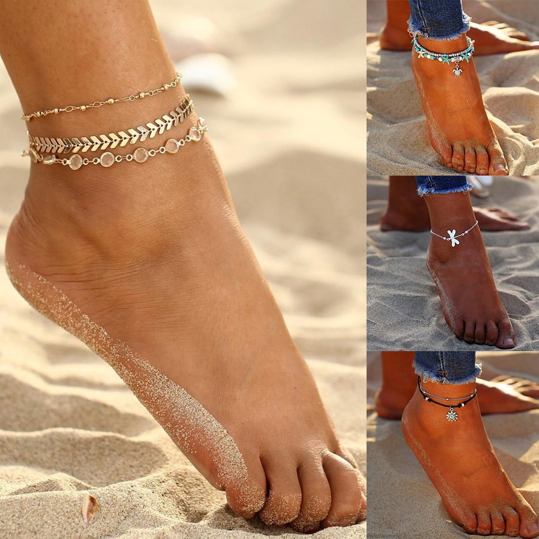 Nouveau Nouveau Femmes forme différente Fashion Barefoot Beach cheville Bijoux Chaîne de cheville Mode Nouveaux Bracelets de cheville de femmes