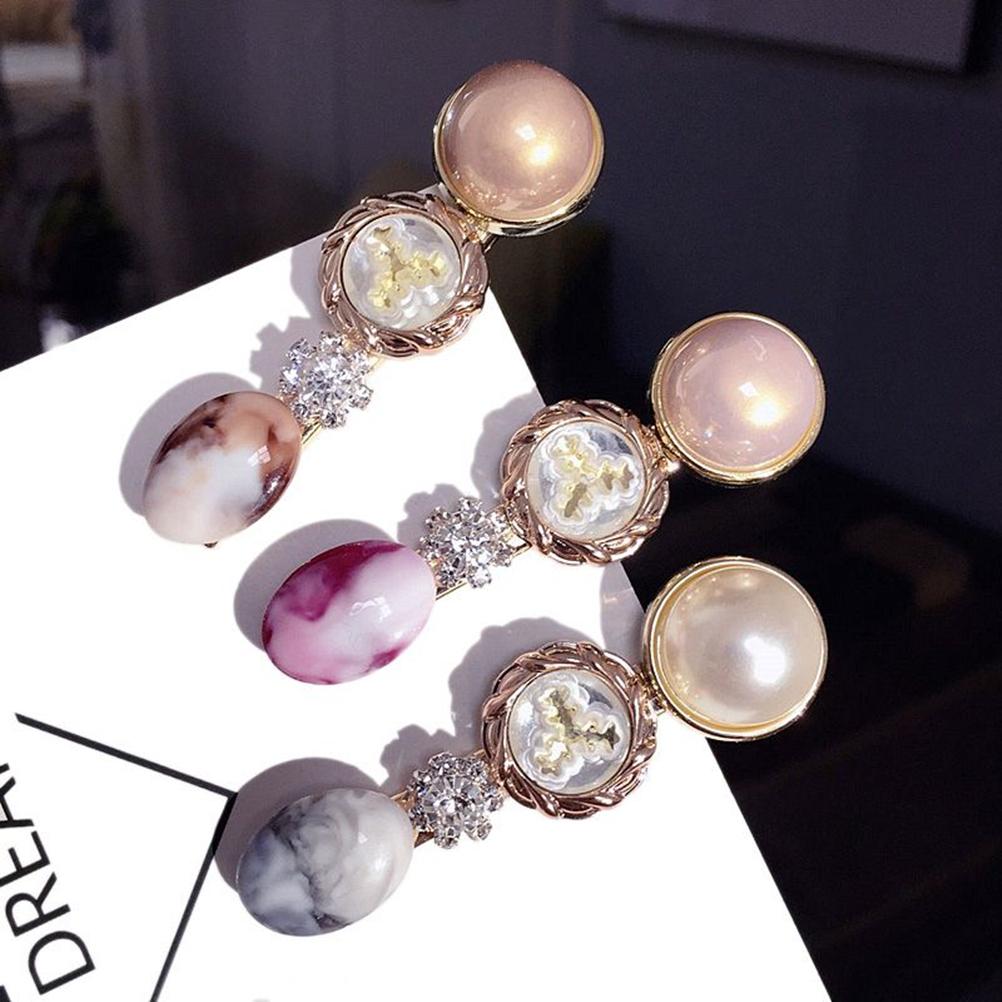 Imitation Pearl Hair Clip Claw Clamp Headwear Accessories For Women Girls 6A