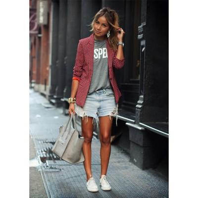 Giacca da donna casual, giacca a maniche lunghe scozzese a maniche lunghe, Abito professionale dolce e bello, Cappotto da donna autunno e inverno
