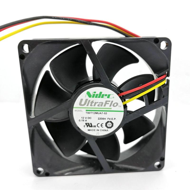 AUB0812H 8025 12V 0.26A new 8 cm server power supply cooling fan