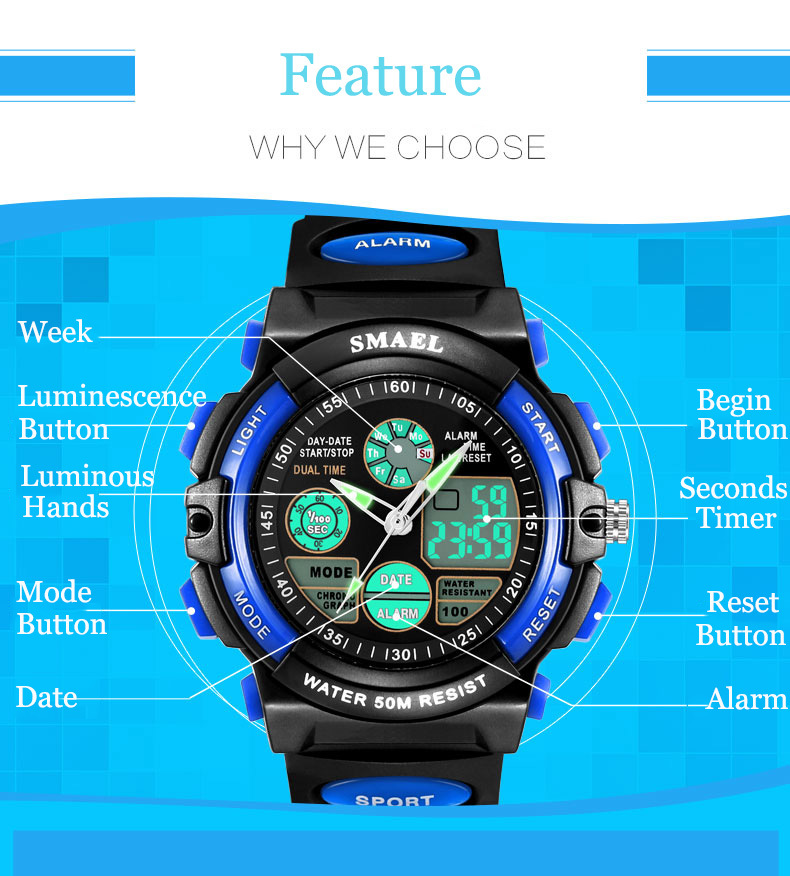 8 digital watches for kids