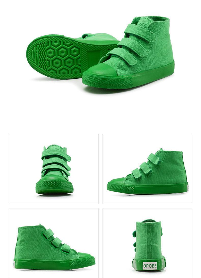 Crianças Lona Sapatos Da Menina do Menino Sapatas Dos Miúdos Da Forma Da Menina Do Menino Da Sapatilha Criança Sneakers Casua Flats Tamanho 26-35 Verde R Amarelo Y190525
