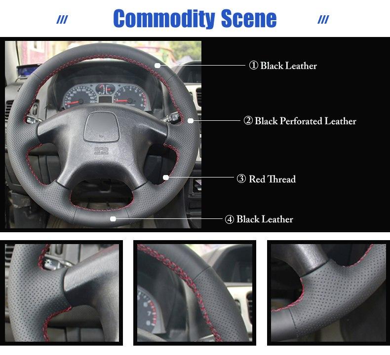 for Mitsubishi Pajero steering wheel covers