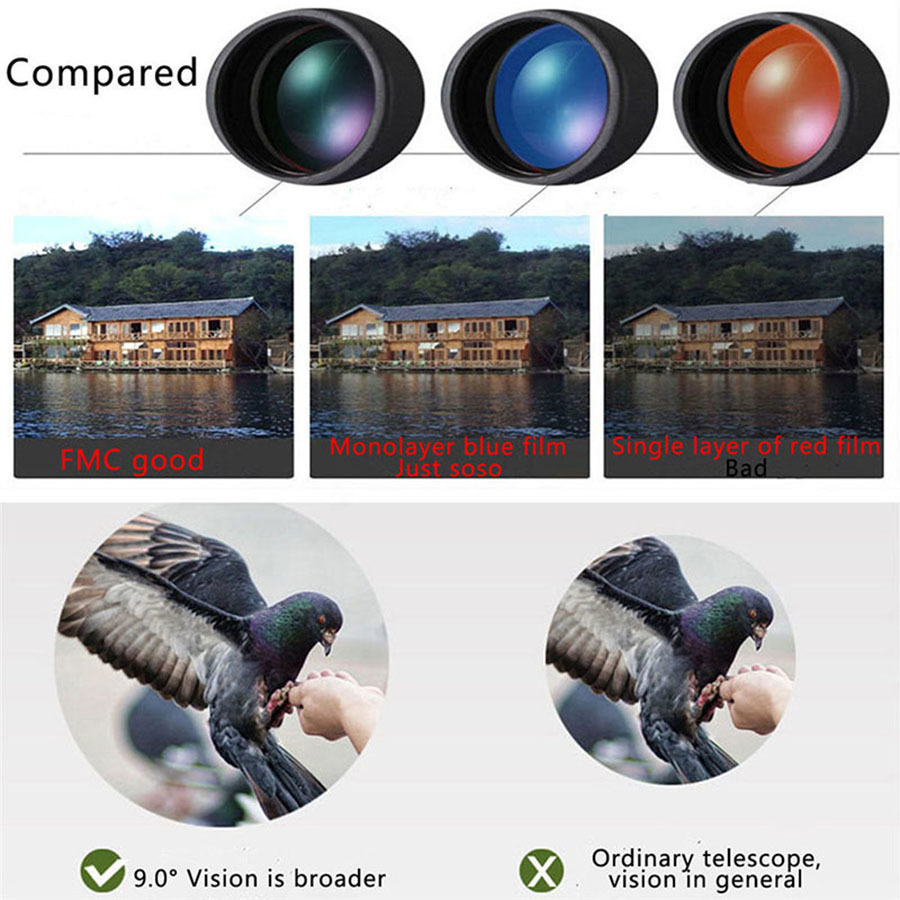 16X52 Dual Focus Telescope Lens HD Zoom Optical Telephoto Lens Universal for Smartphones Outdoor Camping Fishing With Tripod (13)
