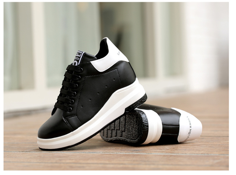 WADNASO Height Increased Casual Shoes Woman Wedge Platform Sneakers Lace Up Breathable Hide Heels Ladies Shoes Female XZ108 (29)