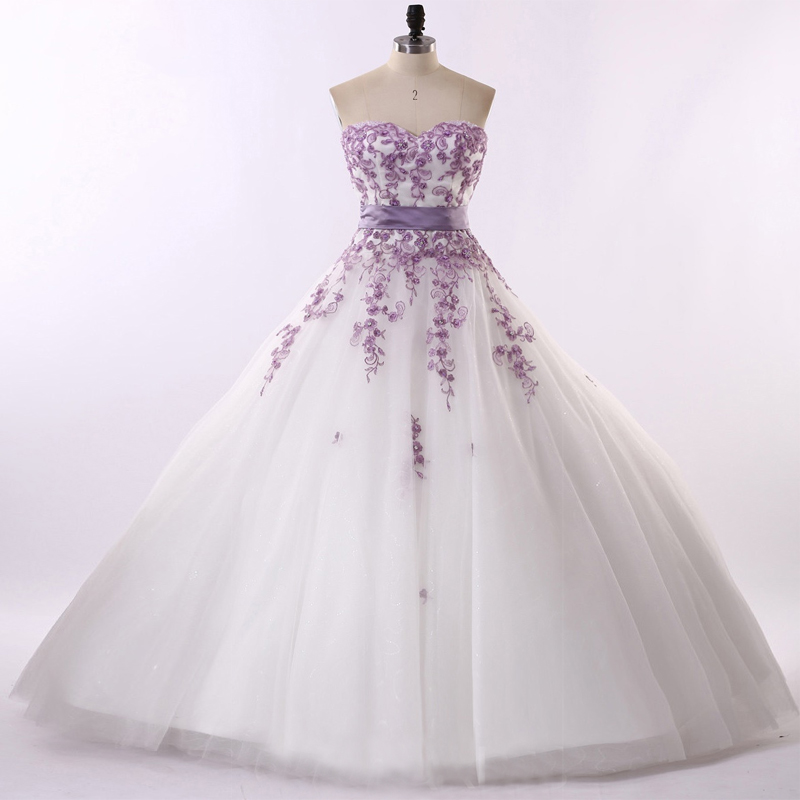 Wholesale Purple And White Wedding Dresses Buy Cheap In Bulk From China Suppliers With Coupon Dhgate Com