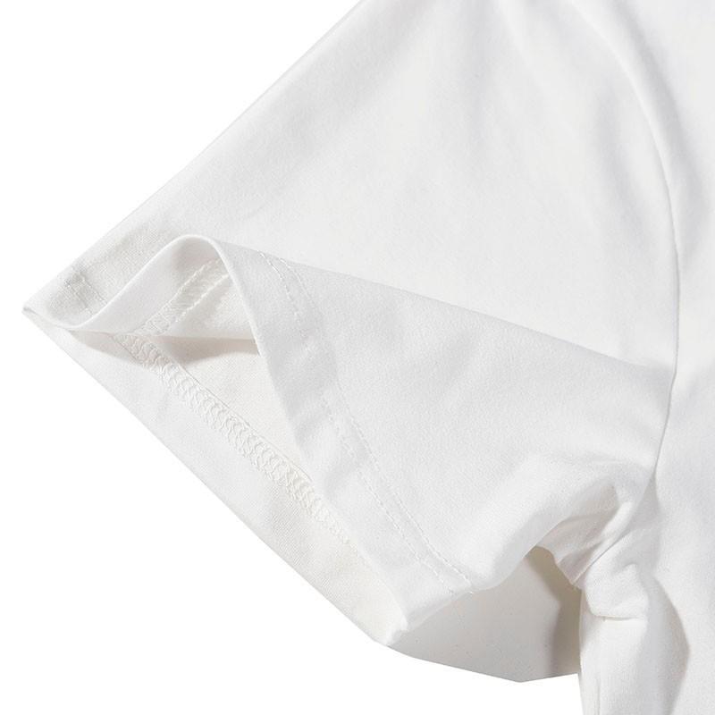 T-shirt dos homens cor sólida solta meia manga coelho bonito homens e mulheres com o mesmo casal shirton