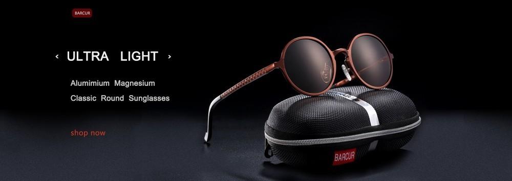 BARCUR Round Sunglasses