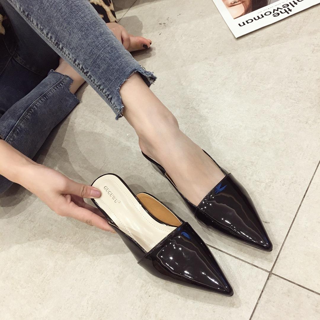 Pretty2019 cool douce pantoufle confortable Baotou grossière Ban Tuo chaussures de femmes avec Muller