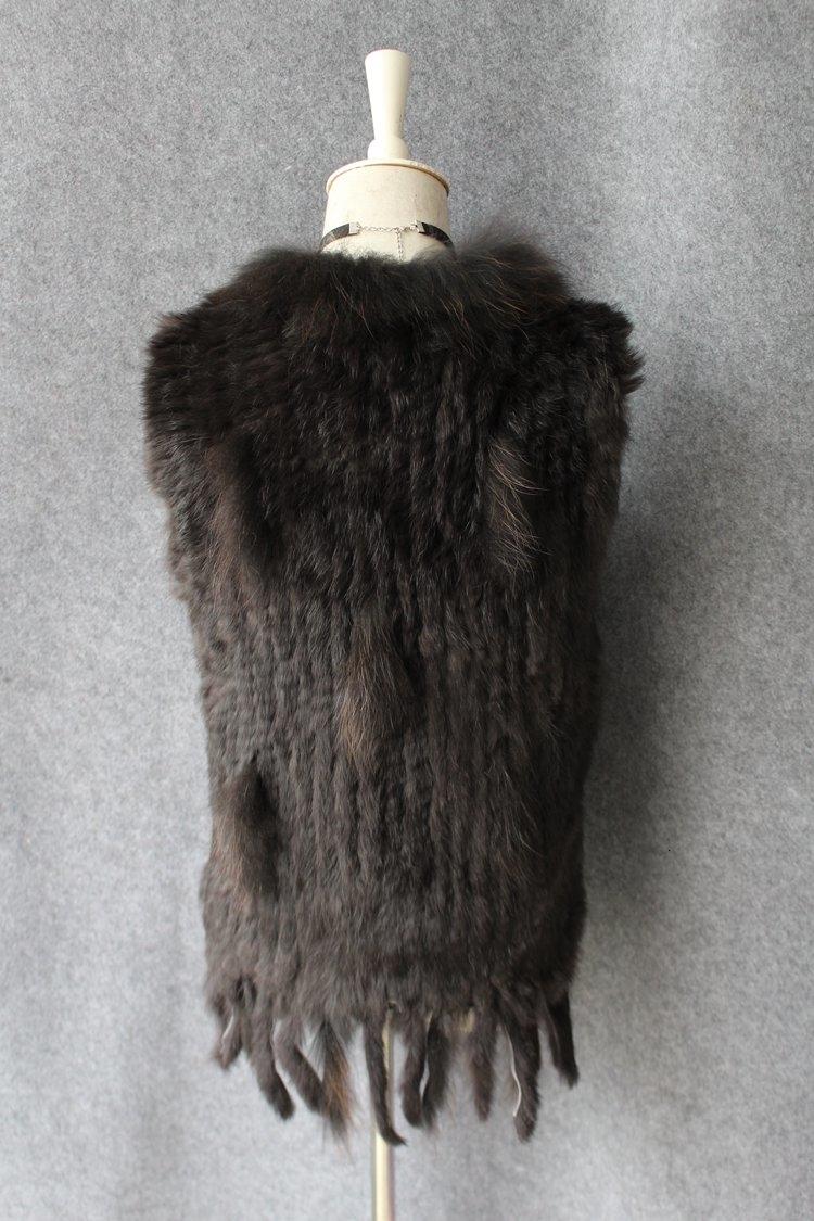 genuine real rabbit fur vest with raccoon fur collar (29)