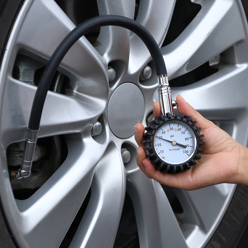 Auto Motor Car Truck Bike Tire Tire Medidor De Presi/ón De Aire Dial Meter Veh/ículo
