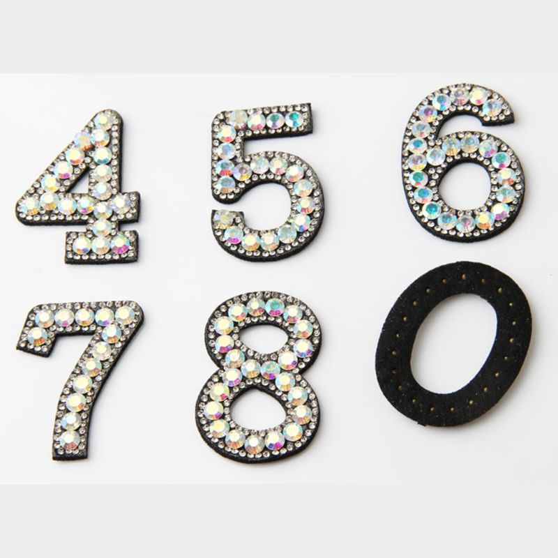 10pcs 0-9 Number Patches Fabric Adhesive Jeans Cap Hat Iron On Applique DIY