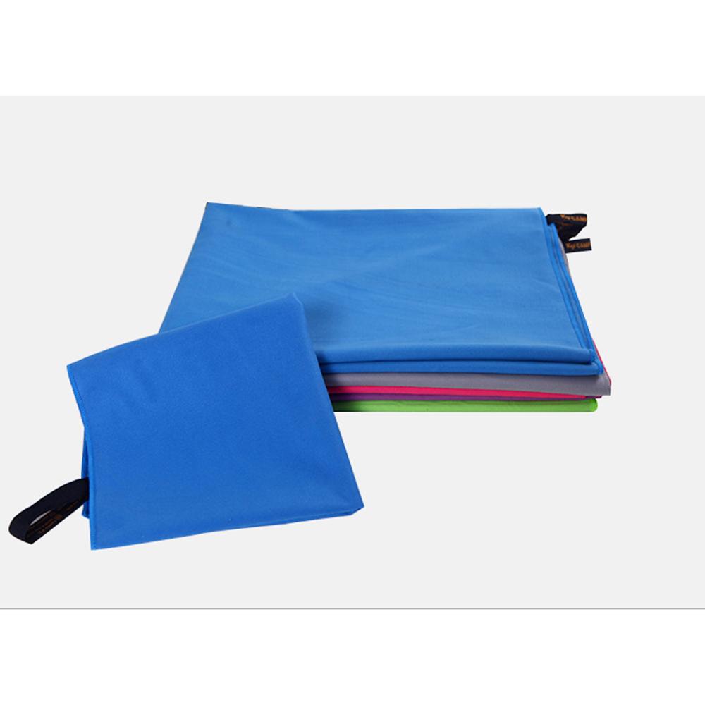 2 piezas de microfibra toalla del deporte conjunto del recorrido de secado rápido suaves toallas de playa con el bolso de gran tamaño del gimnasio de natación Suministros Viajes Yoga