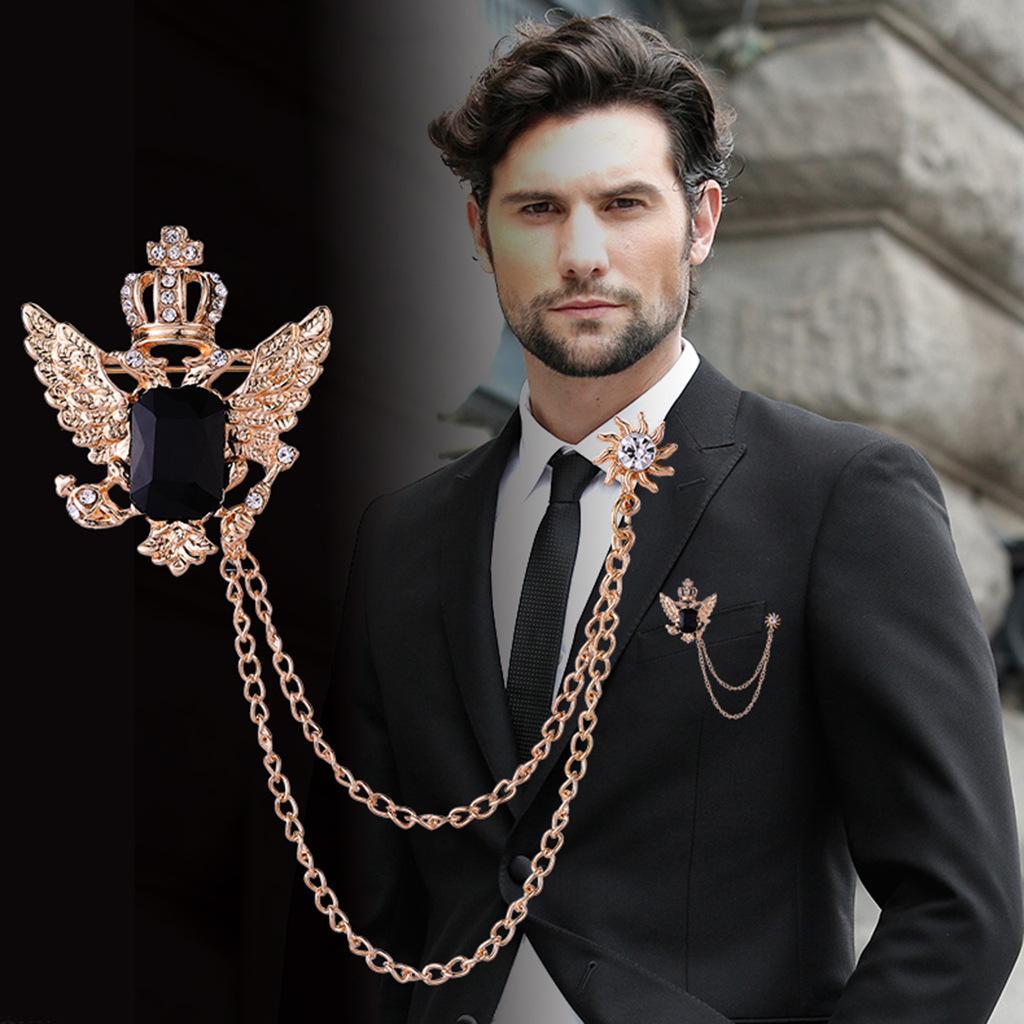 Fashion Bird Branch Stick broche épinglette Hommes Corsage Costume Shirt Accessoires
