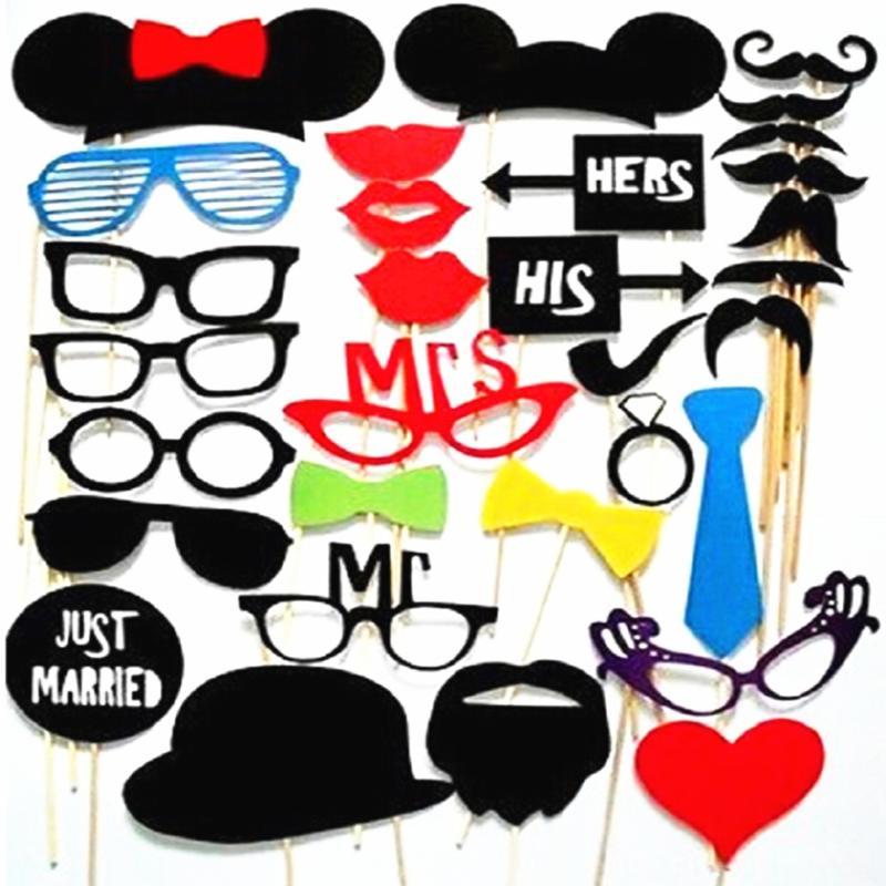 Bannière Hesse Bunting Rustique Shabby Chic Moustache fête d/'anniversaire photo booth
