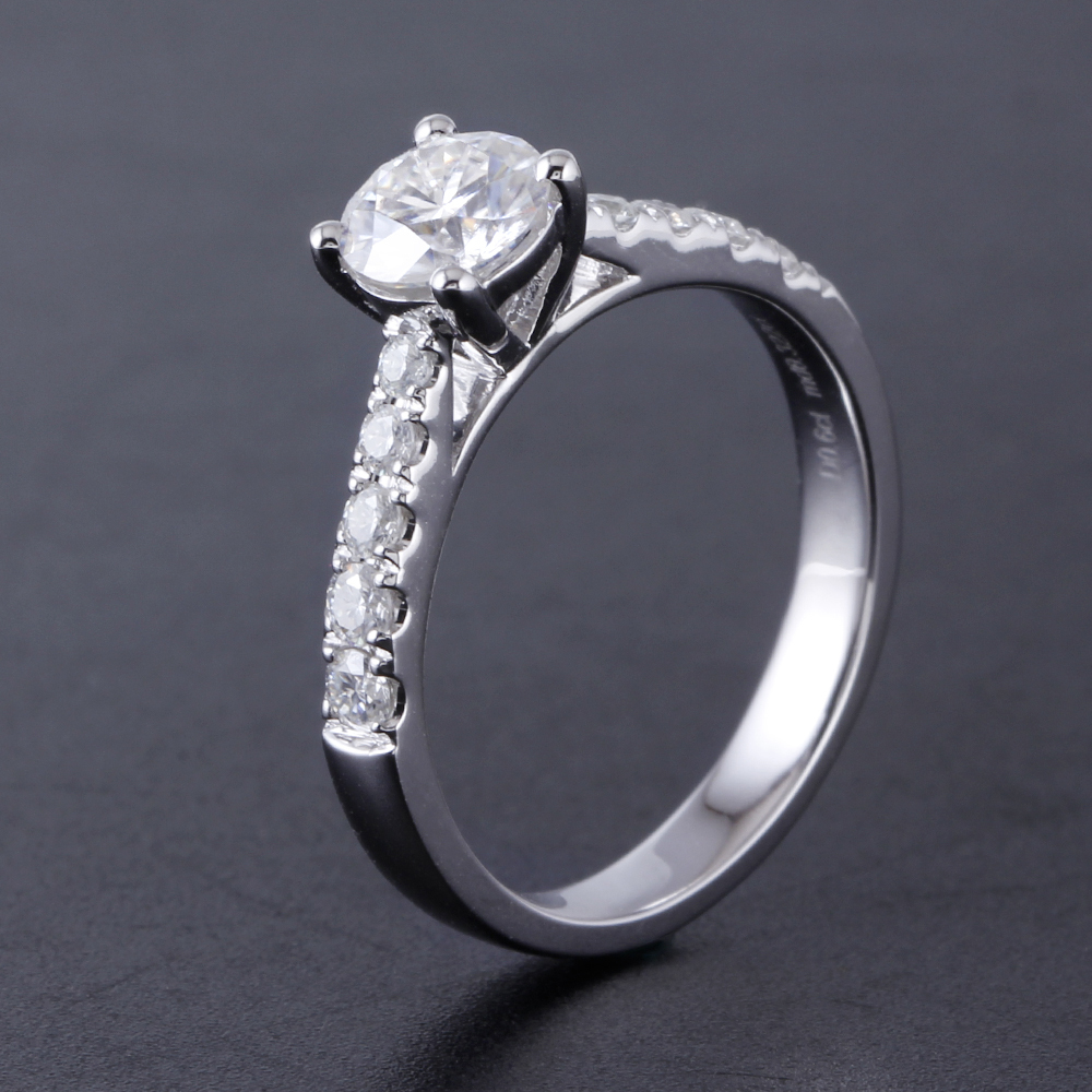 solitaire engagement ring moissanite ring (4)