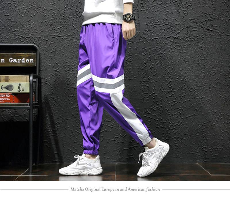 Loose Hip Hop Cargo Pants Men Camouflage Patchwork Harem Mens Trousers Streetwear (6)