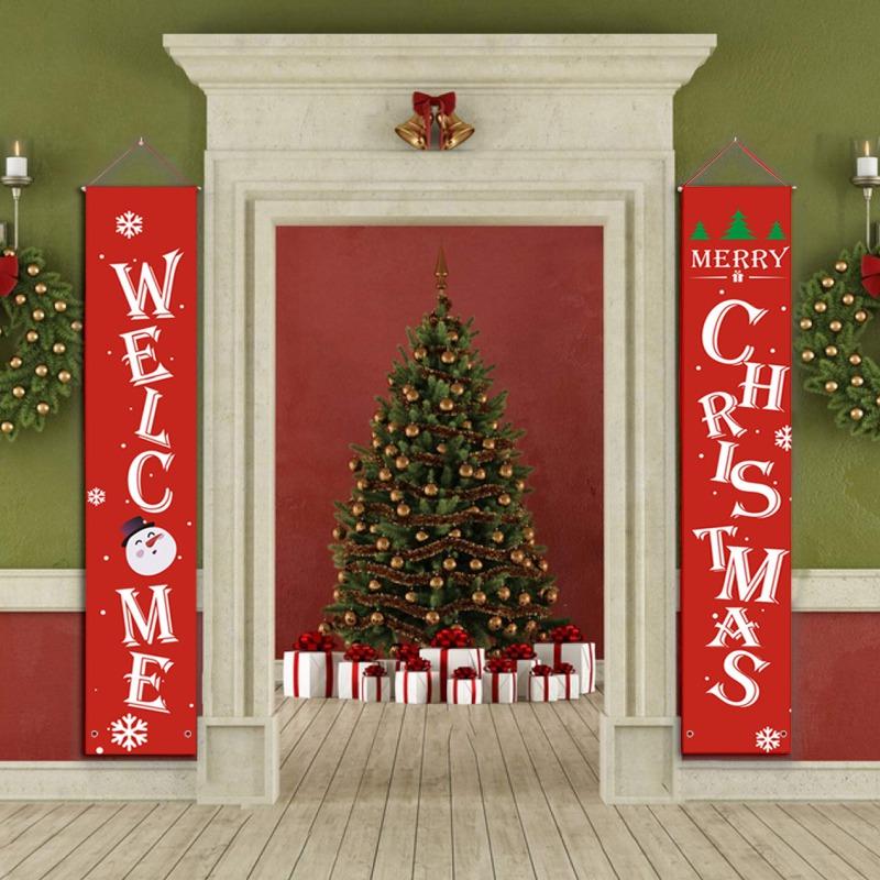 Buon Decorazioni di Natale appeso Natale Banner di Natale Hanging Segno visualizzazione dell'interno Porta Outdoor Decorazioni di Natale
