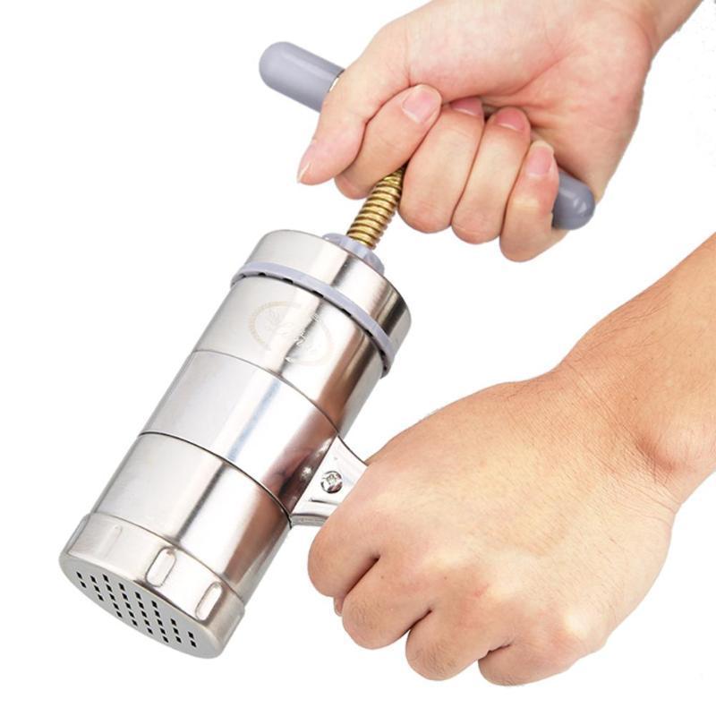 Manueller Nudelhersteller-Presse-Teigwaren-Maschinen-Kurbelschneider-Frucht-Entsafter-Kochgeschirr mit 5 Pressformen, die Spaghetti-Küchengeschirr machen