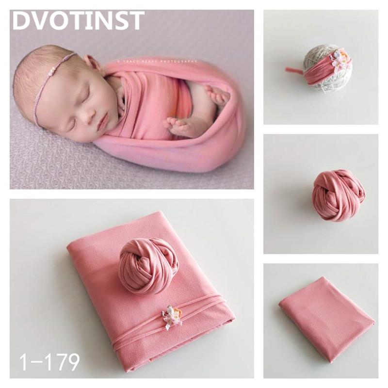 Dvotinst Baby Photography Bakcground Blanket Wraps Headwear Fotografia Accessories Infantil Studio Shooting Photo Props Q190521