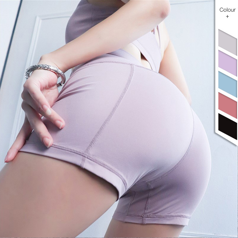 2019 Two-sided A Sense Of Nudity Bodybuilding Shorts Woman Honey Peach Lift The Hips High Waist Close Motion Yoga Pants