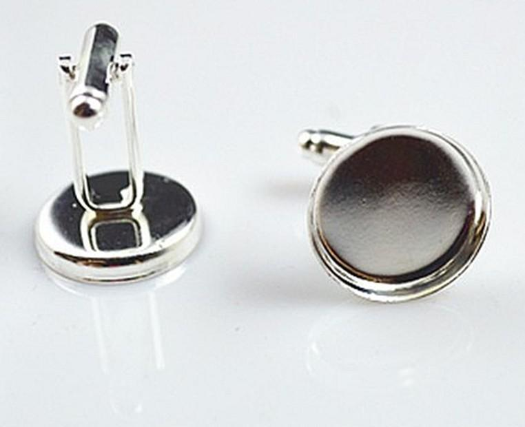 high quality sterling silver cufflink base, cufflink blank, cufflink size16MM
