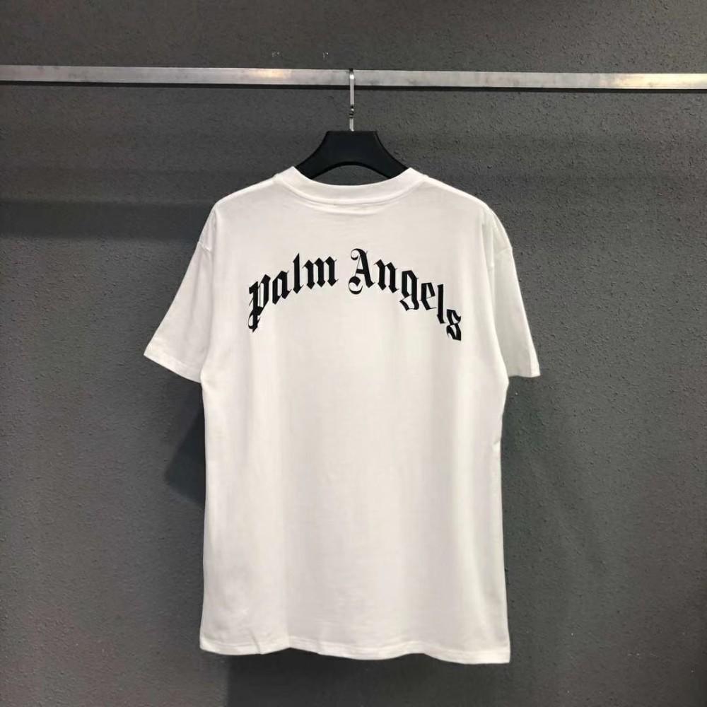 19AW PALM ANGELS Kill The Bear camiseta de lujo de Europa de moda de gran tamaño de manga corta de algodón mujeres parejas para hombre camisetas de diseño HFWPTX360