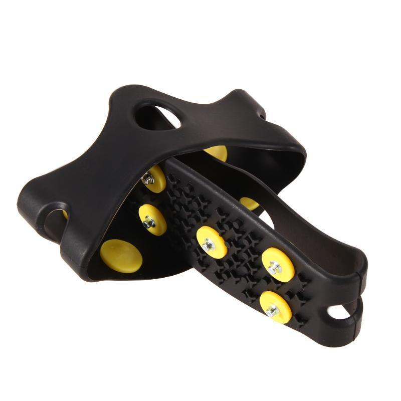 New Anti Slip Snow Ice Climbing Spikes Grips Crampon Cleats 5-stud Shoes Cover