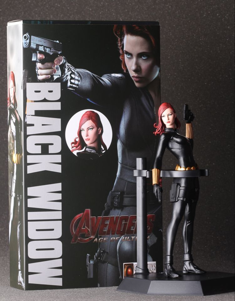 Avengers Black Widow Cartoon Figure Anime Movie Model Lovely Action Figures Collectible Model Kids Toys (2)