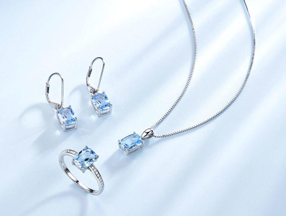 UMCHO Sky blue topaz silver sterling jewelry sets for women EUJ054B-1-pc (4)