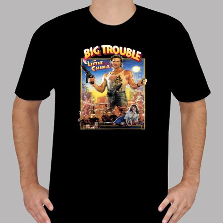 Retro Movie Poster Inspired by Big Trouble in Little China T-Shirt Imprimé