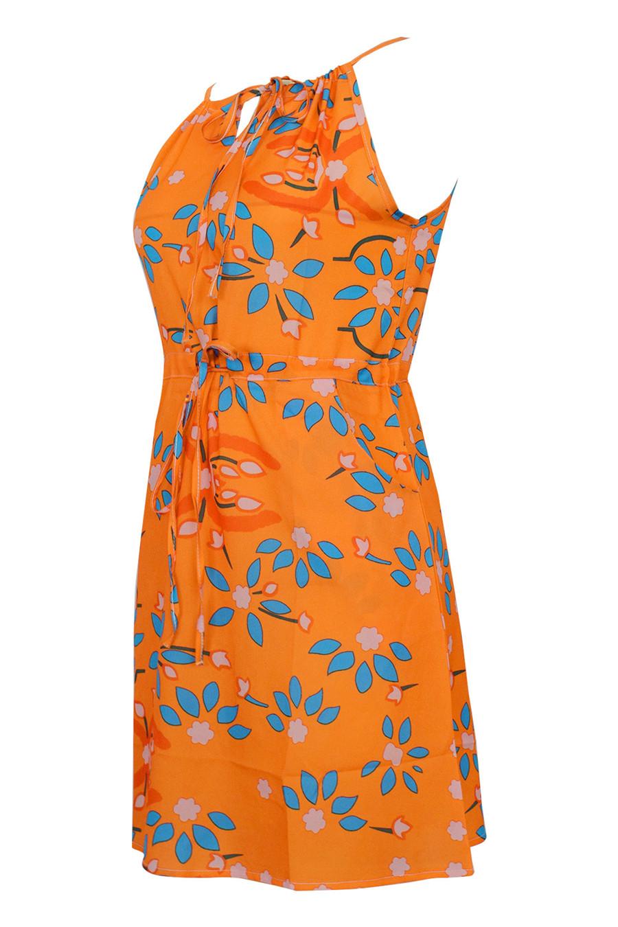 Gladiolus Chiffon Women Summer Dress Spaghetti Strap Floral Print Pocket Sexy Bohemian Beach Dress 2019 Short Ladies Dresses (16)